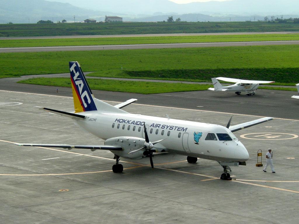 北海道エアシステムの飛行機