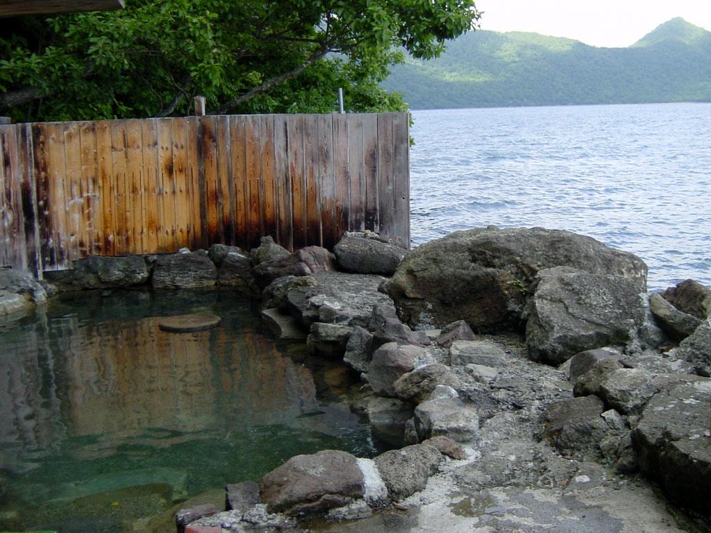 伊藤温泉の露天風呂