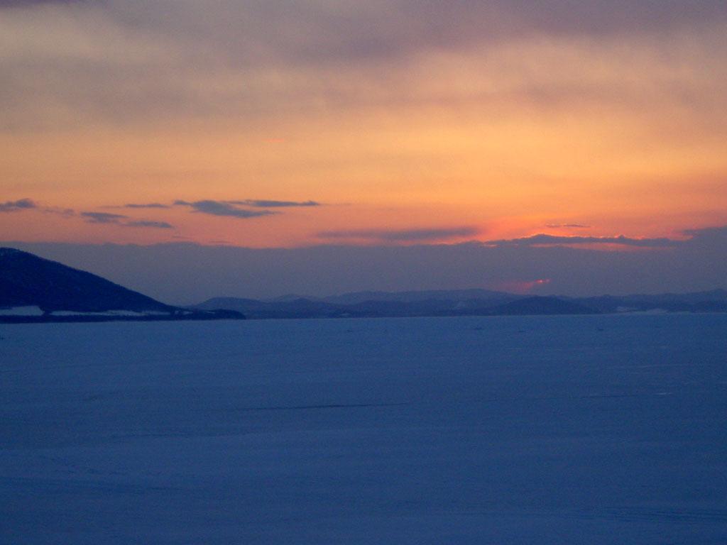 サロマ湖 夕景