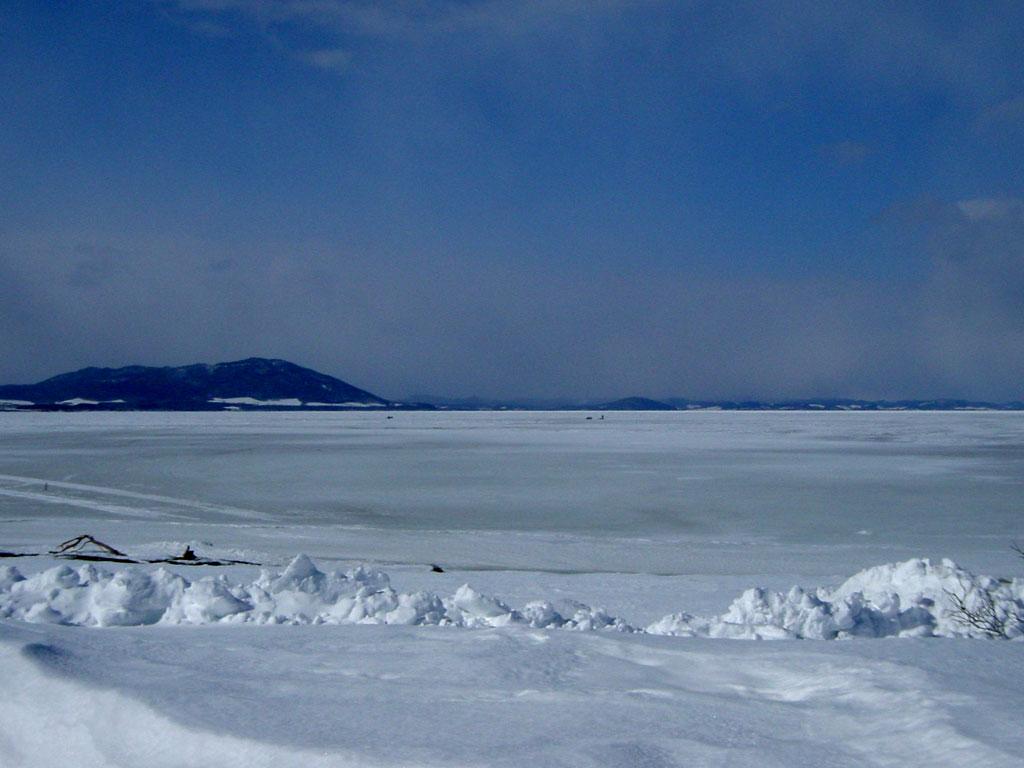 サロマ湖 冬