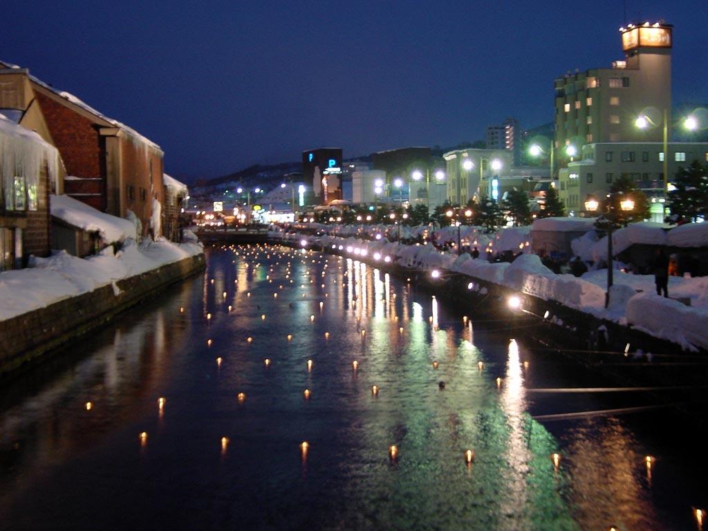 小樽雪あかりの路(小樽運河)