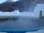然別湖コタンの氷上露天風呂